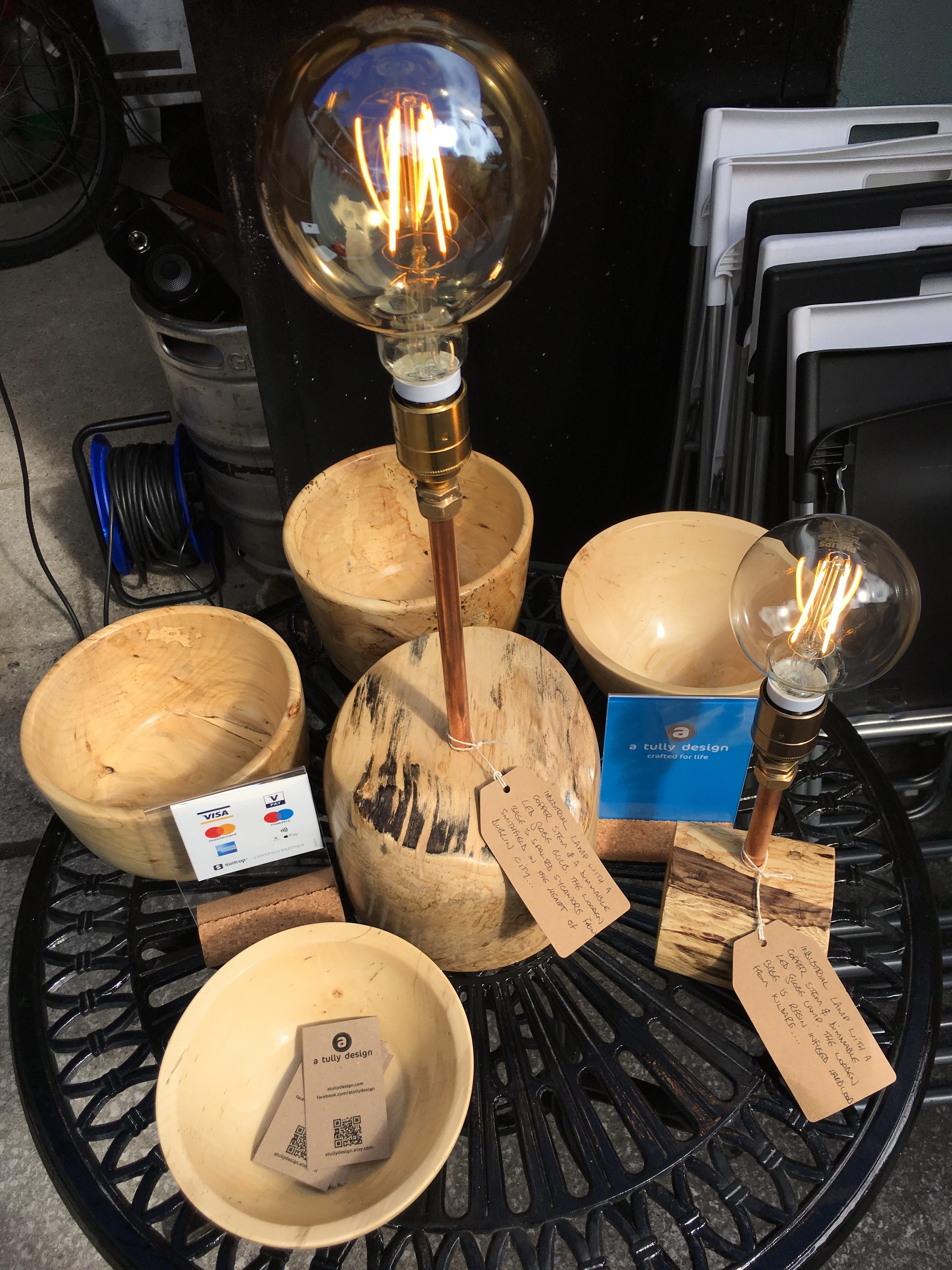 Collection of Lamps and Bowls